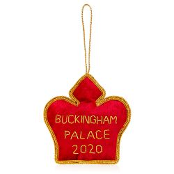 Buckingham Palace Red Crystal Crown 2020 Decoration