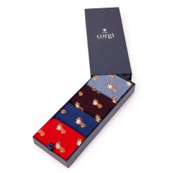 Corgi Socks Gift Set of Four