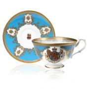Buckingham Palace Coat of Arms Teacup and Saucer