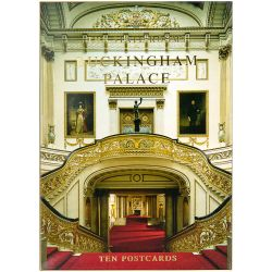 Buckingham Palace pack of ten postcards featuring a Buckingham Palace Grand Staircase photo cover