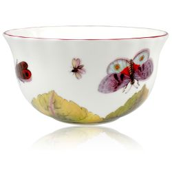 Chelsea Porcelain Sugar Bowl with a design featuring botanical patterns.