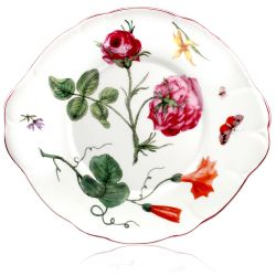 Chelsea Porcelain Sandwich Plate with a design featuring botanical patterns.