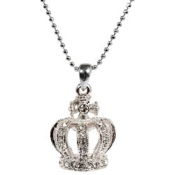 Buckingham Palace Silver Crown Pendant