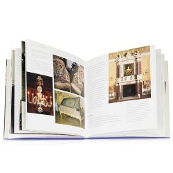 The front cover and open book view of The Queen's Dolls' House Book by Lucinda Lambton.