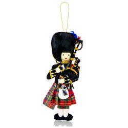 Scottish Piper fabric christmas decoration.