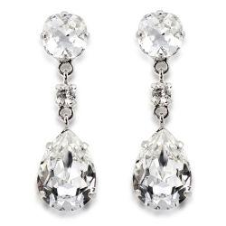 Coronation Swarovski crystal drop earrings inspired on Her Majesty Queen Elizabeth II original coronation earrings.