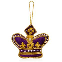 Buckingham Palace Purple Crown Decoration
