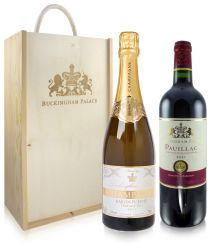 Buckingham Palace Champagne and Wine Gift Set
