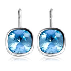 Buckingham Palace Blue Crystal Earrings