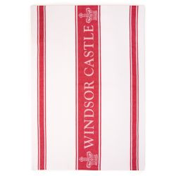 Windsor Castle Red Waffle Tea Towel