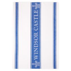 Windsor Castle Blue Waffle Tea Towel