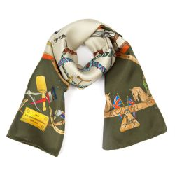 Buckingham Palace Green Rocking Horse Scarf
