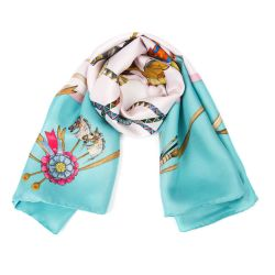 Buckingham Palace Blue Rocking Horse Scarf