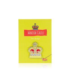 Windsor Castle Crown Pin Badge