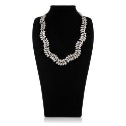 Buckingham Palace Crystal Leaf Necklace