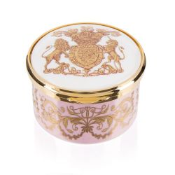 Special Edition Lustre Hinged Pillbox Pink