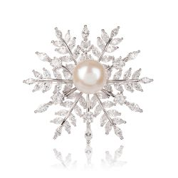 Buckingham Palace Snowflake Brooch