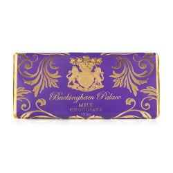 milk chocolate bar wrapped in  purple and gold wrapper