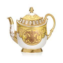 Lustre Yellow Coffee Pot