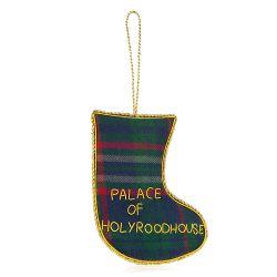 Holyrood Palace Tartan Christmas Stocking