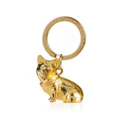 Buckingham Palace Gold Corgi Keyring