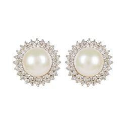 Centred Pearl Earrings