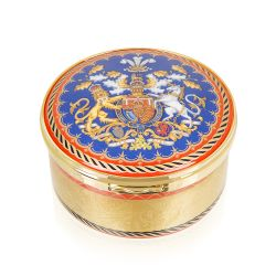 The Prince of Wales 70th Birthday Commemorative Round Hinged Box