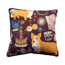 Karen Mabon 'Oh So Royal' Purple Cushion