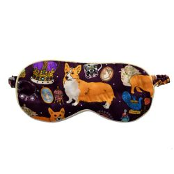 Karen Mabon 'Oh So Royal' Purple Silk Eye Mask