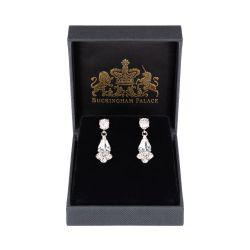 Crystal Decagon Earrings