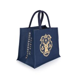 blue juco bag with a gold stag on the front and the words 'Palace of Holyroodhouse' at the side