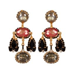 Vicki Sarge Red and Black Earrings