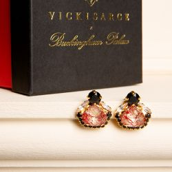 Vicki Sarge Black and Red Stud Earrings
