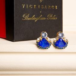 Vicki Sarge Blue Stud Earrings