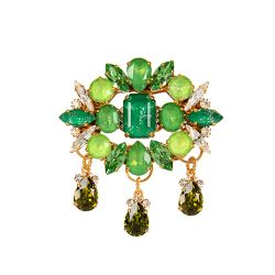 Vicki Sarge Green Drop Brooch