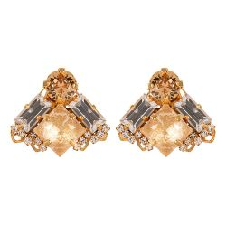 Vicki Sarge Champagne Square Earrings