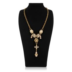 Vicki Sarge Champagne Statement Necklace