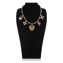 Vicki Sarge Purple and Grey Pearl Necklace