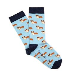 Children's Blue Corgi Socks