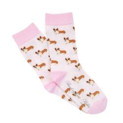Children's Pink Corgi Socks