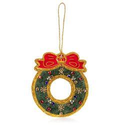 Buckingham Palace Crystal Christmas Wreath Decoration