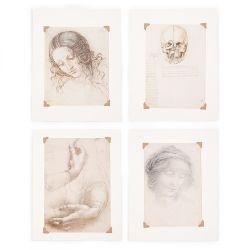 Leonardo da Vinci Set of Four Small Prints