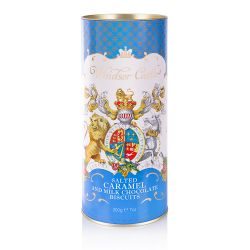 Windsor Castle Salted Caramel and Chocolate Biscuit Tube