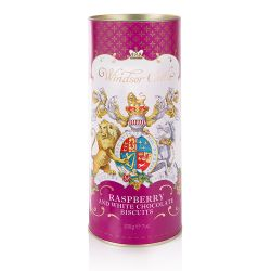 Windsor Castle White Chocolate and Raspberry Biscuit Tube
