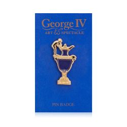 George IV Sèvres Blue Vase Pin Badge