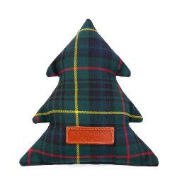 Buckingham Palace Tartan Christmas Tree Dog Toy