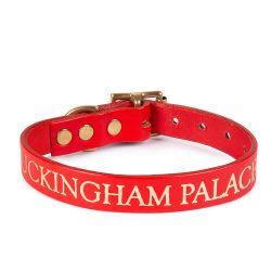 Buckingham Palace Red Pet Collar