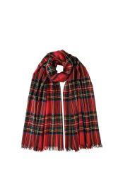 Royal Stewart tartan merino wool scarf