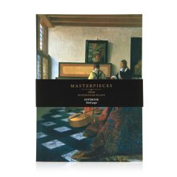 notebook featuring a masterpiece of Vermeer on the front cover