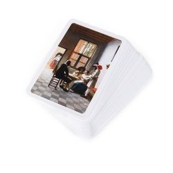 pack of 52 playing cards with the image of 'Cardplayers in a Sunlit Room' by Pieter de Hooch